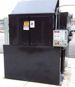 Easy Loading Outdoor Waste & Recycling Compactor