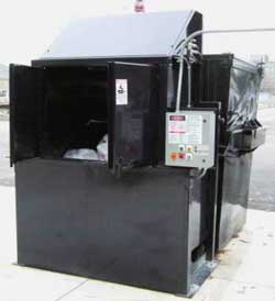 TV 3000 EZ Loading Outdoor Commercial Waste & Recycling Compacting Unit