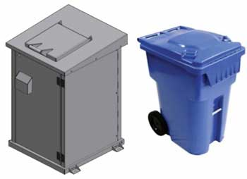 Single Unit - Waste & Recyclables Security System